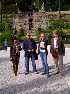Small group at Garzoni garden in Collodi