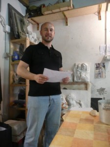 Dr Alan Pascuzzi in his studio