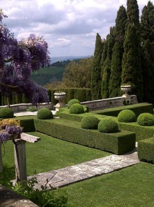 Views from the garden at La Foce
