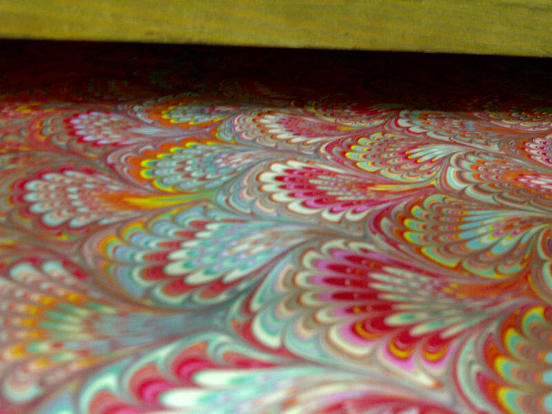 Yes – Paper-marbling was fun!