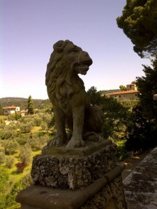 lion at Gamberaia