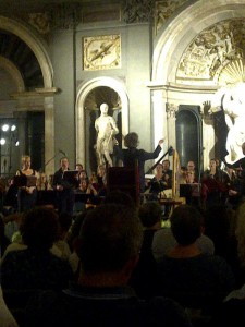 Fererico Maria Sardelli conducts music for the Marriage of Ferdinando 1 and his bride