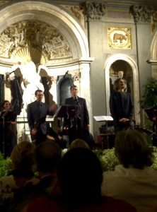 Federico Maria Sardelli takes his bow at the end of the Vivaldi concert