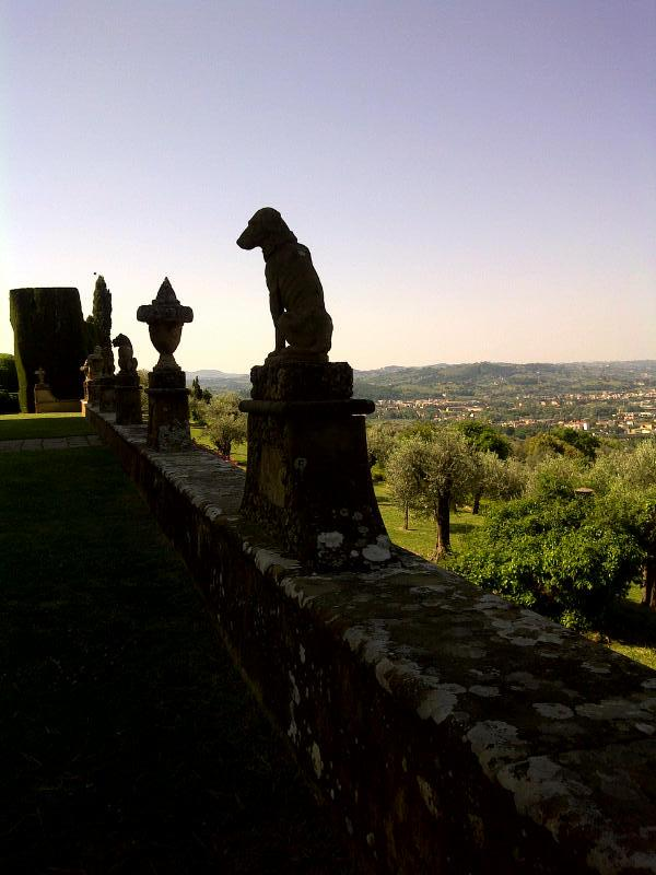 The view from Villa Gamberaia