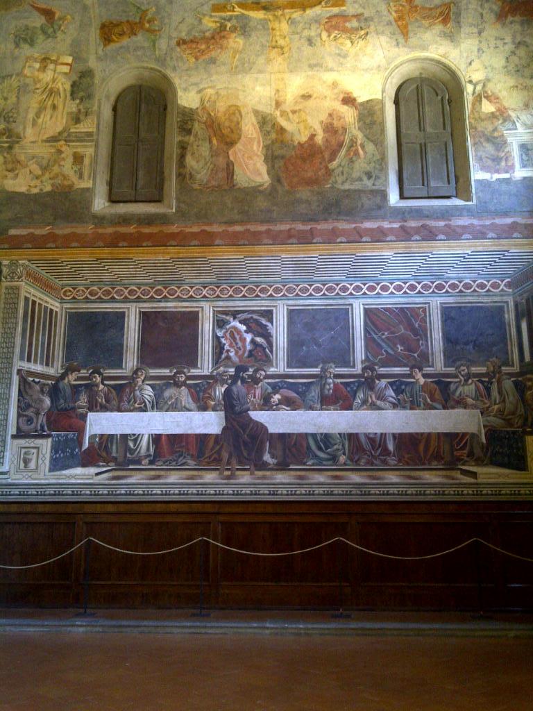 the 1476 Last Supper in Cenacola Santa Apollonia