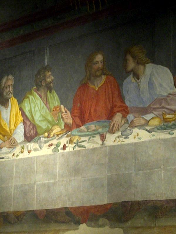 The Last Supper by Alessandro Allori in Santa Maria del Carmine cenacola