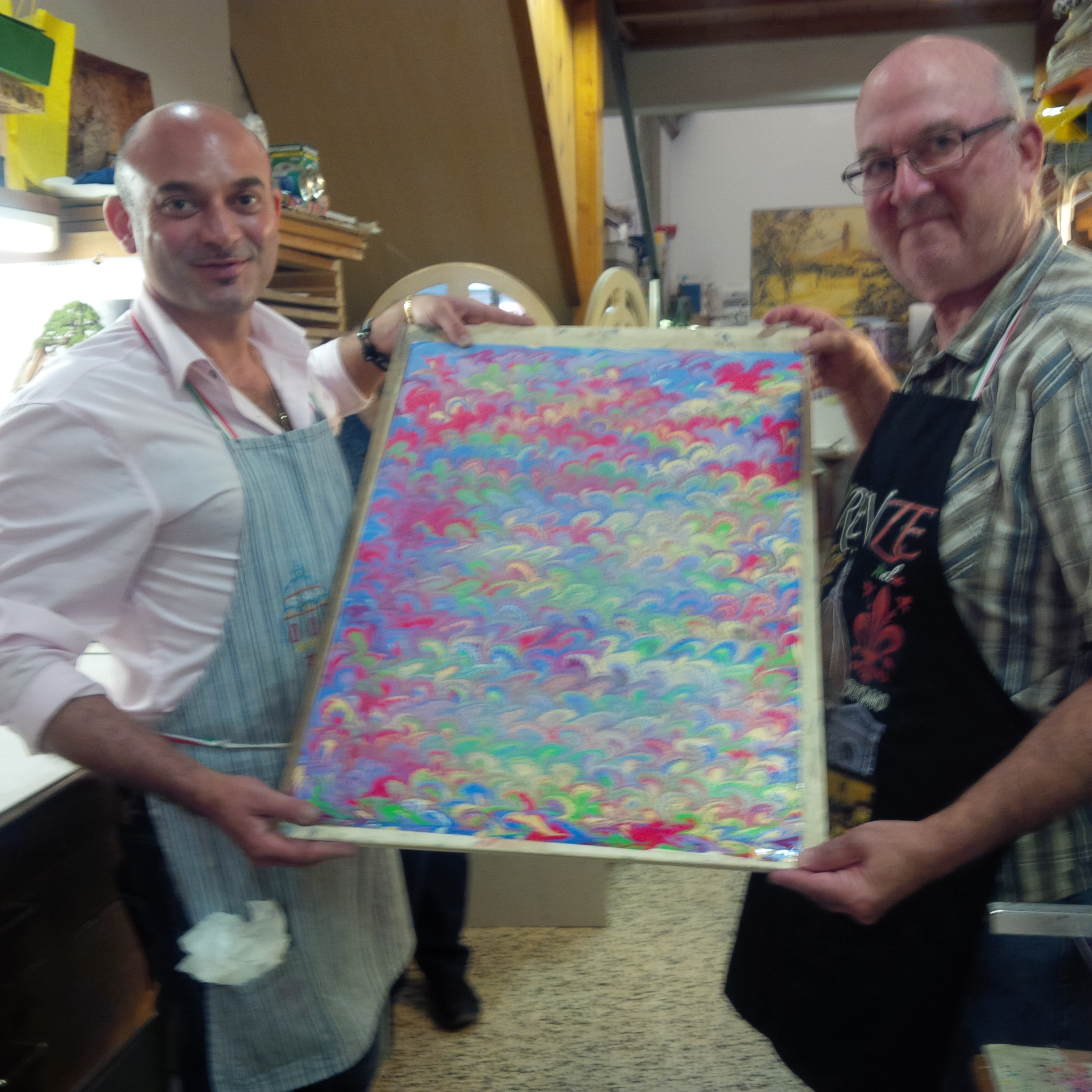 Paper marbling results