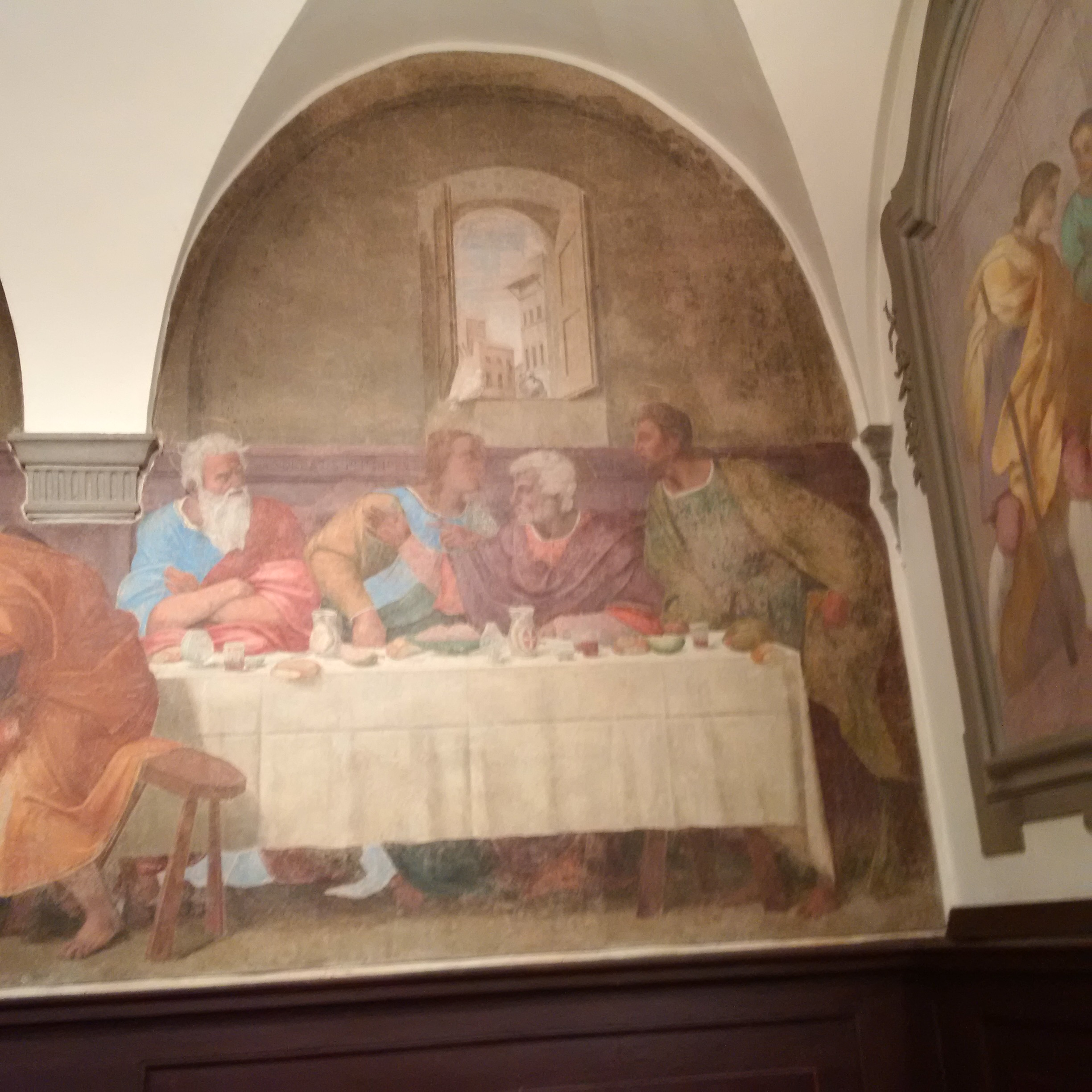 In the Convent of the Socks – I have found another Last Supper in Florence – this time by Franciabigio.