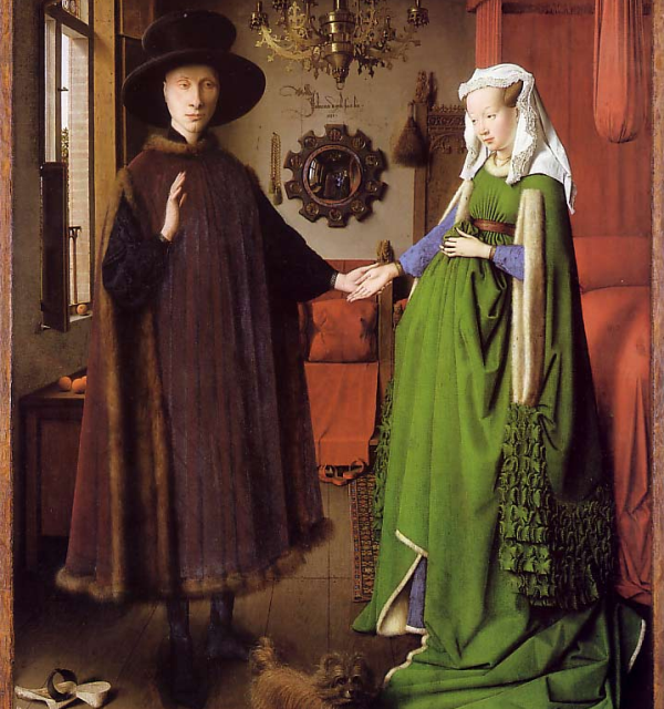 The famous Arnolfini Portrait – did the Medici even manage to get their balls on this?